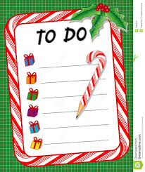 christmas to do gift list u0026 candy cane pencil stock photo image