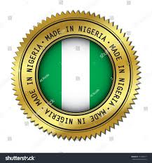 Nigerian Flag Made Nigeria Golden Badge Flag Symbol Stock Vector 717465517