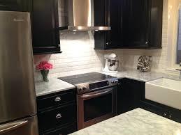 subway tiles for backsplash in kitchen beveled white subway tile backsplash white beveled subway kitchen
