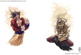 dbz goku vs broly sketches by meiphon on deviantart