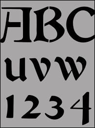 lettering stencils from the stencil library buy from our range of