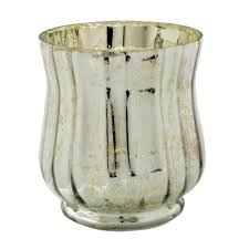 ashland mercury glass votive candle holder silver flower