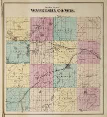 Wisconsin Breweries Map by Waukesha County Outline Map Wisconsin 1873