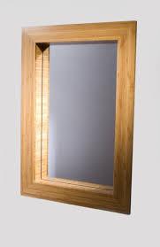 Custom Framed Bathroom Mirrors Custom Mirror Frame In Bamboo By Studio Two Design And Simplehuman