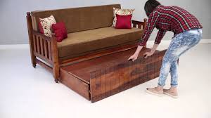 Diy Wooden Couch Sofa Bed Erika Sofa Bed Online Wooden Street Youtube