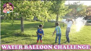 Challenge Water Balloon Blindfold Water Balloon Catch Challenge Challenges For 4