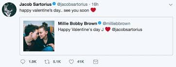 brown s day millie bobby brown jacob sartorius relationship gets serious with