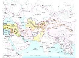 Blank Map Of Central Asia by Maps U0026 Atlas Silk Road Trade Routes Map