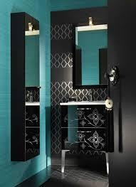 Black And Blue Bathroom Ideas Blue Bathroom And I Like The Canvas Paintings On The Wall A