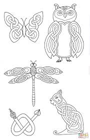 celtic animals designs 2 coloring page free printable coloring pages