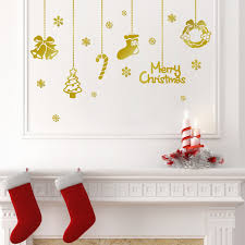 merry christmas decorations graphic stickers gold