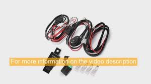 Led Light Bar Wiring Harness by Best Auxbeam Led Light Bar Wiring Harness Kit 12v 40amp Fuse