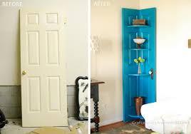 Diy Bookcase Door Corner Door Shelf
