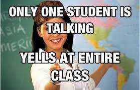 Unhelpful Highschool Teacher Memes - one kid talking unhelpful high school teacher know your meme