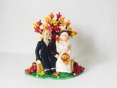 personalised bride and groom beach wedding cake topper orange