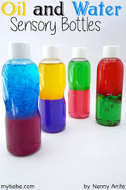oil and water sensory bottles for babies my baba parenting blog
