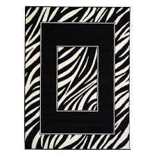 donnieann african adventure zebra skin border design black 5 ft 2