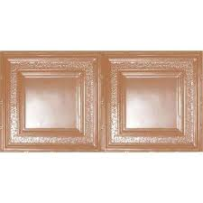 2 x 4 copper ceiling tiles ceilings the home depot
