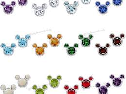 s birthstone earrings 43 mickey mouse birthstone earrings disney earrings mickey icon