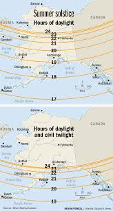 Kavik Alaska Map by As Solstice Approaches A Look At Why Alaska Has The Most Daylight