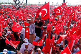 Huge Red Flag Istanbul Turkey U0027s Erdogan Stages Mass Rally In Show Of Strength