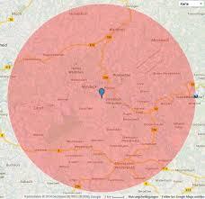 Google Maps Radius Erst Der Schwarzstorch Nun
