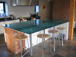 kitchen island furniture kitchen great blue glass top breakfast