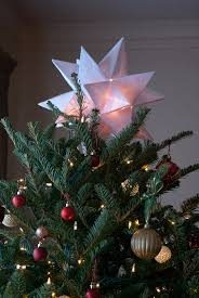Lighted Christmas Star Tree Topper by Origami Star Christmas Tree Topper Babytalk Bungalow