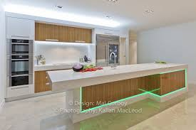 Kitchen Cabinet Led Downlights Kitchen Light Dark Modern Kitchen With Cabinet And Island Lighting
