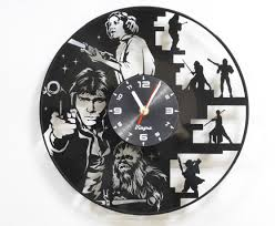 star wars vinyl wall clock record wall clock star wars wall