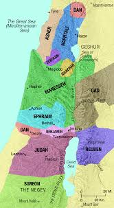 Map Of Isreal Map Of The Tribes Of Israel Saint Mary U0027s Press
