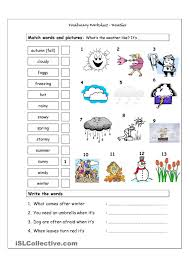 vocab worksheets printable vocabulary matching worksheet weather weather