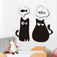 online get cheap pokemon vinyl decals aliexpress com alibaba group thin and fat cat cute animal cat wall stickers pet shop pokemon wall decals diy vinyl