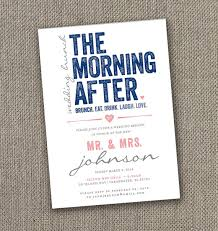 brunch invites the morning after wedding brunch invitation digital file