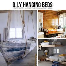 DIY Hanging Beds Boat Bed Is Perfect For A Seaside Themed Room - Suspended bunk beds