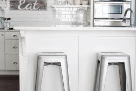 White Metal Bar Stool White Kitchen Metal Bar Stools Home Decoz White Kitchen Counter