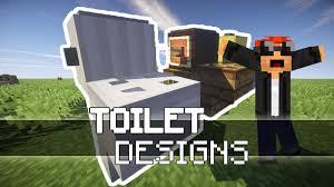 Minecraft Bathroom Ideas Minecraft Toilet Designs Smooboo Youtube