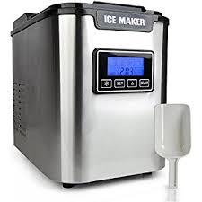 amazon com upgraded nutrichef digital portable ice maker machine