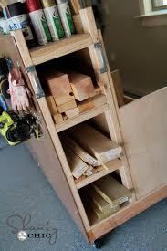Plywood Storage Rack Free Plans by Garage Organization Diy Lumber Cart Shanty 2 Chic