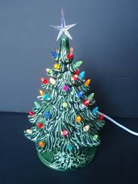 miniature christmas tree lights ceramic tabletop christmas tree with tiny lights actually still