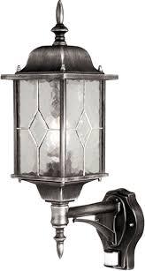 outdoor wall lantern lights wexford traditional outdoor pir wall lantern black silver wx1 pir