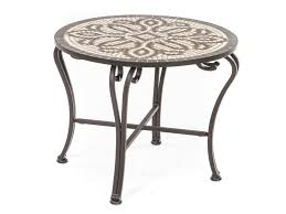 outdoor mosaic accent table furniture mosaic accent table outdoor new orvieto mosaic side table