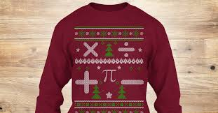 math ugly christmas sweater limited x products from math