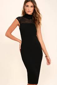 black bodycon dress black dress mesh dress midi dress bodycon dress 54 00