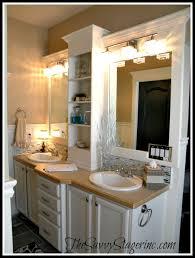 bathroom mirror frame ideas frame and add a shelf to a builder grade mirror builder grade