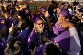 armijo high school yearbook armijo seniors celebrate following the graduation ceremony at