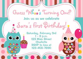 Invatations Owl Birthday Invitations Lareal Co