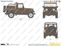 the blueprints com vector drawing mahindra thar