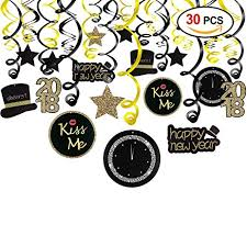 new year party favors 2018 new year hanging swirls garland with celebration