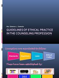 Counseling Code Of Ethics Philippines Guidelines For Ethical Practice Of The Counseling Profession
